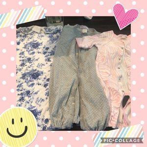 Bundle newborn convertible footies/dressing gown